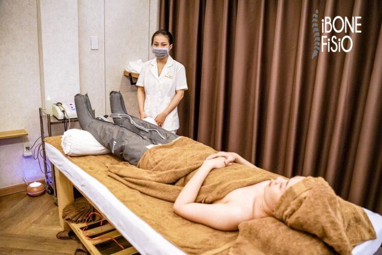 Công nghệ nén ép trị liệu dẫn lưu khí huyết